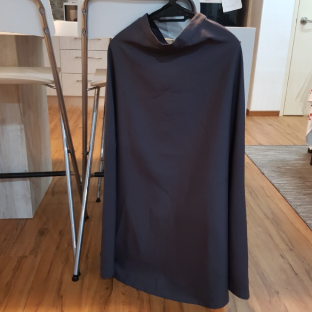 Long Flare Skirt in Grey