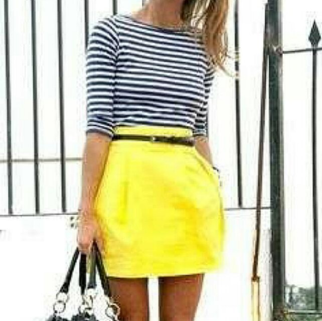 Love 21 by Forever 21 Bright Yellow Skirt