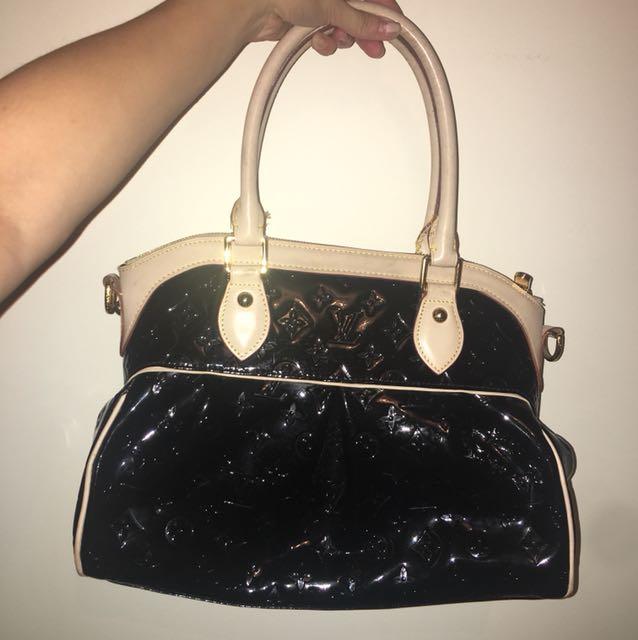LV BLACK PATENT BAG