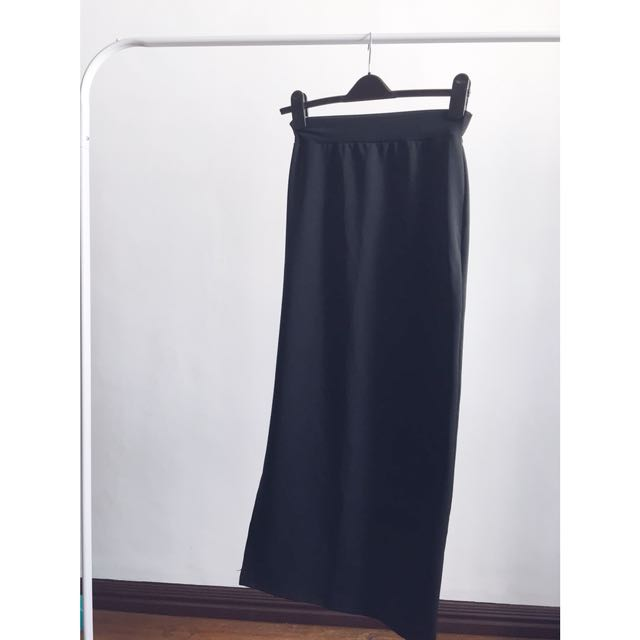 maxi side slit skirt