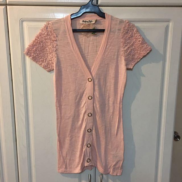 Millennial Pink Cardigan Top