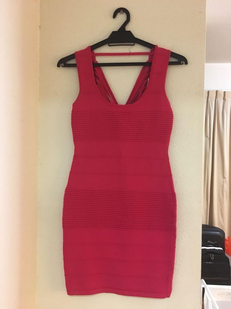 0dcb8187b72 Miu miu hot pink party dress
