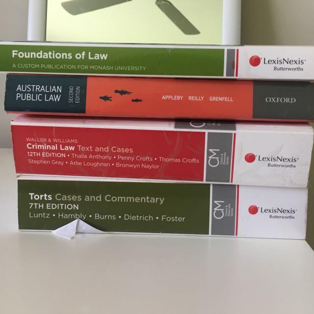 Monash first year law books bundle