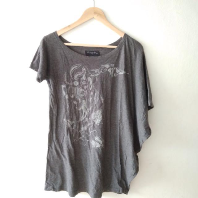 Monstore Grey Asymmetric Shirt