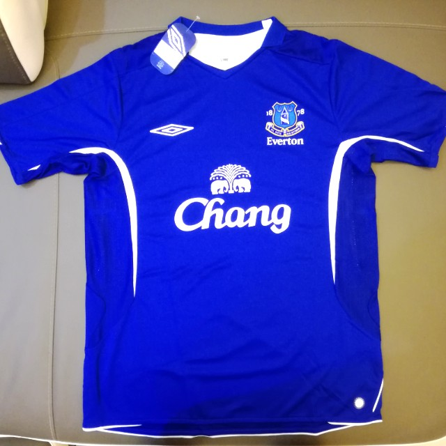 new product 7d05f dfe86 (New) Vintage Original Umbro Everton Home Kit Season 05/06