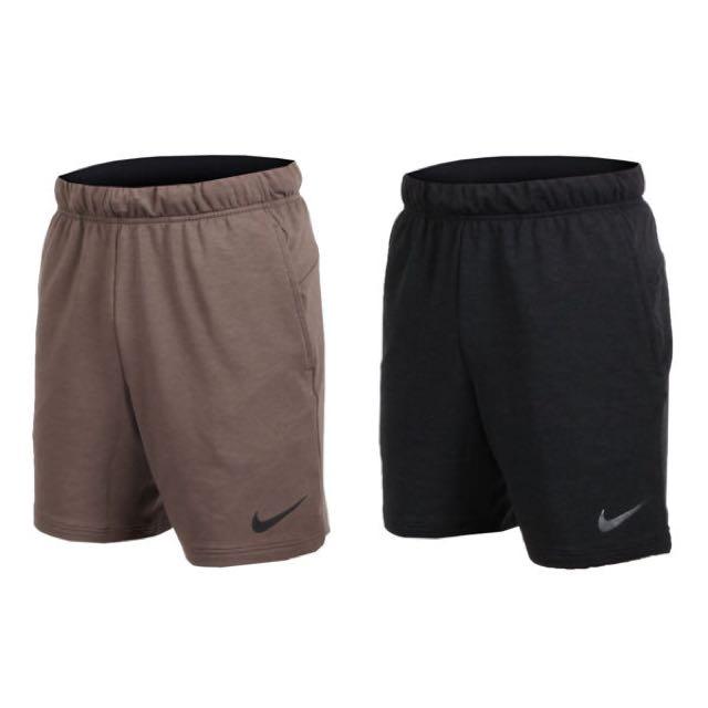 NIKE 男針織短褲 訓練 889402202 深卡其 889402010 黑色