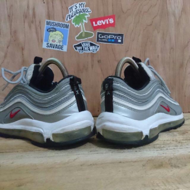 Nike Air Max 97 Silver Bullet Original ( Uniqlo, stussy, supreme, dickies  ), Preloved Fesyen Pria, Sepatu di Carousell