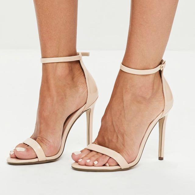 Nude strap heels - Size 9