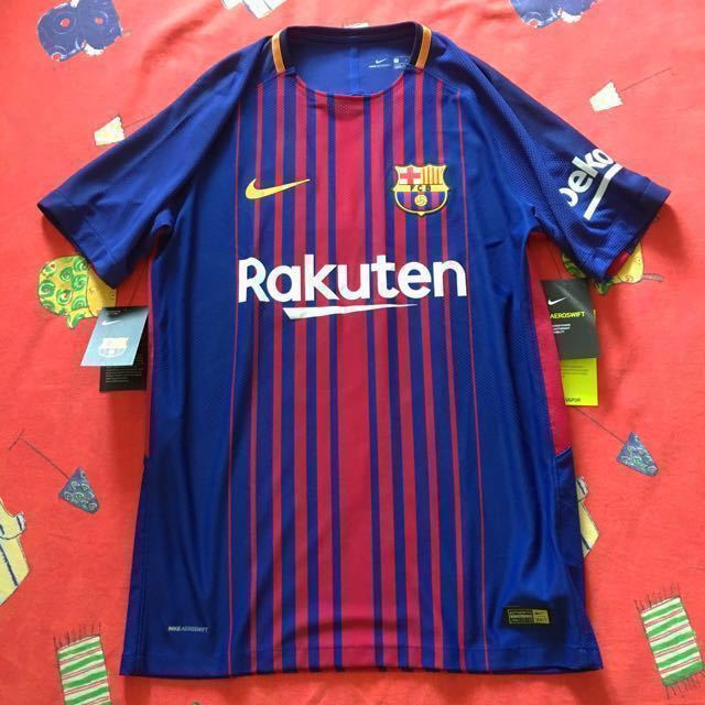 Pirata donde quiera Preguntarse  Official Aeroswift FC Barcelona NIKE Home Jersey 2017/18, Sports, Sports  Apparel on Carousell