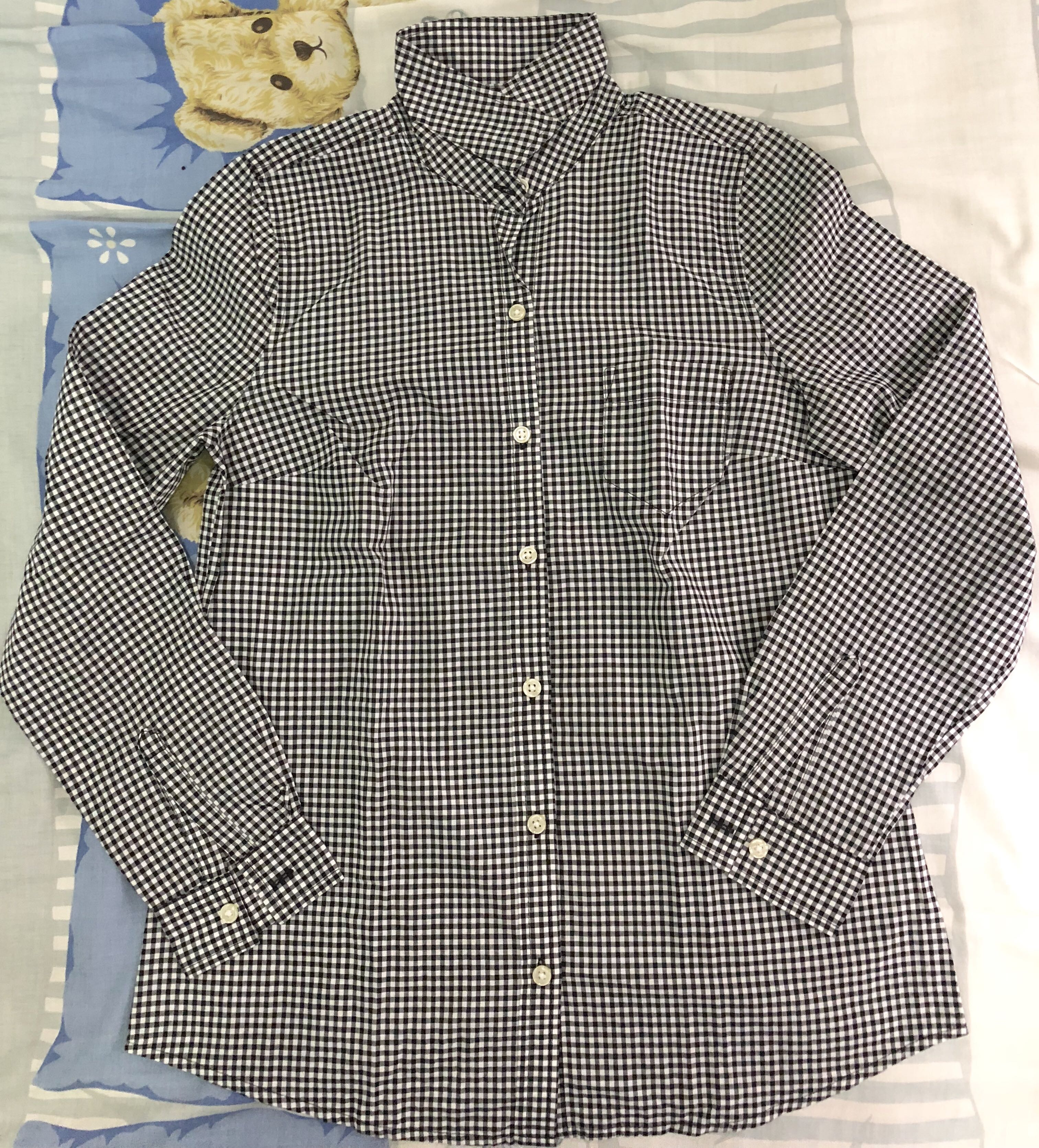 Old Navy Checkered long sleeved polo