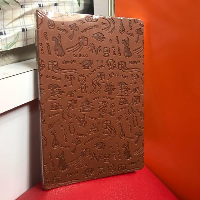Old vintage notebook front