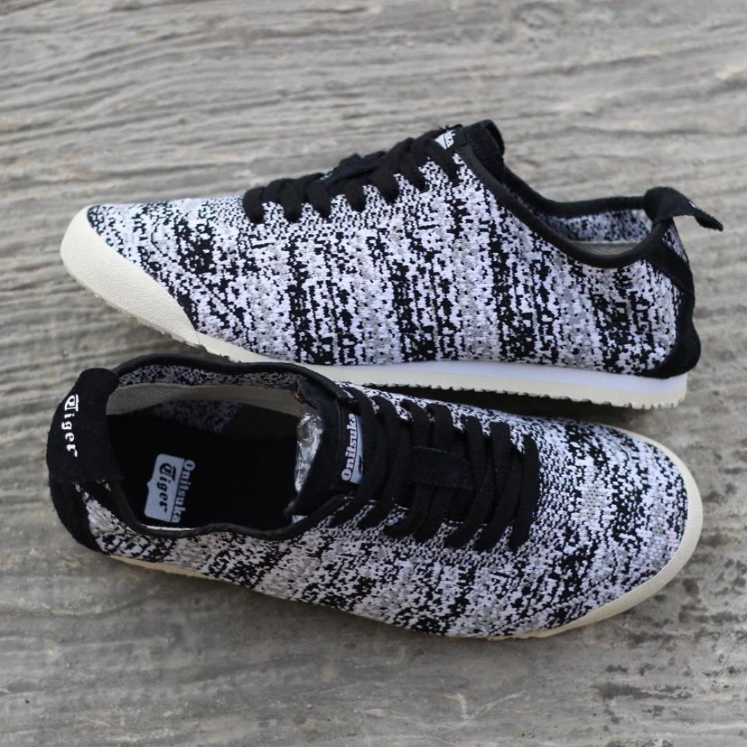 info for 22b3f bf669 Onitsuka Tiger Mexico 66 Knit Black and White Sneakers ...