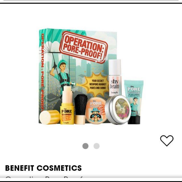 open for nego BENEFIT poreproof kit