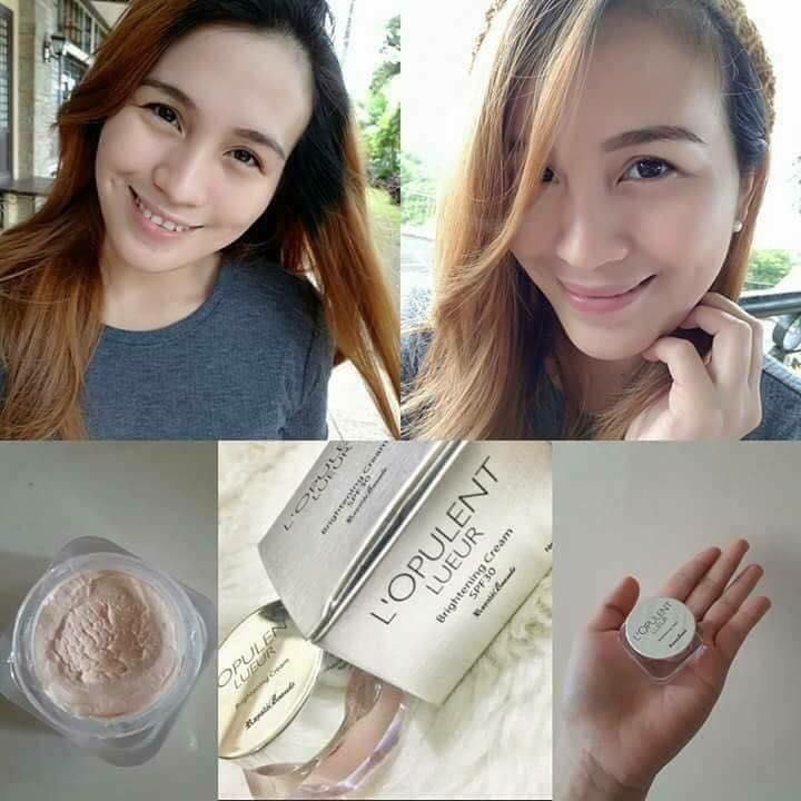 Organic LUEUR Brightening Cream, Powder like finish