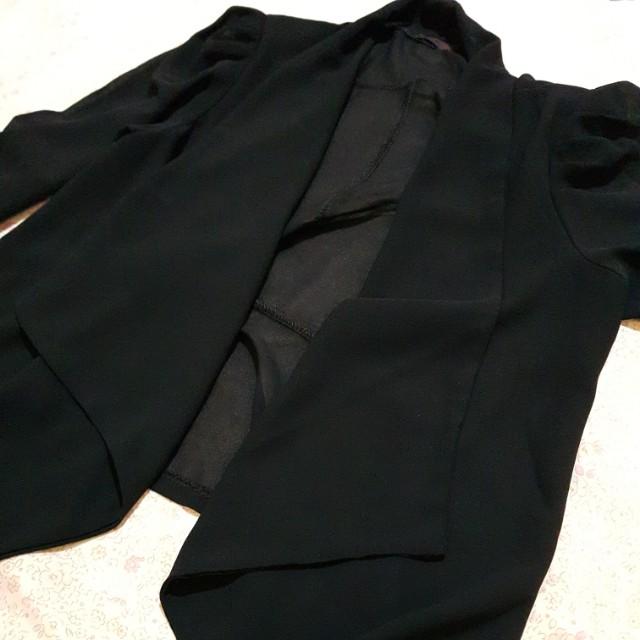 Outer blazer cardigan hitam