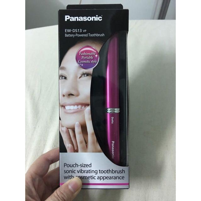國際牌Panasonic 攜帶型音波震動電動牙刷 EW-DS13 桃粉色