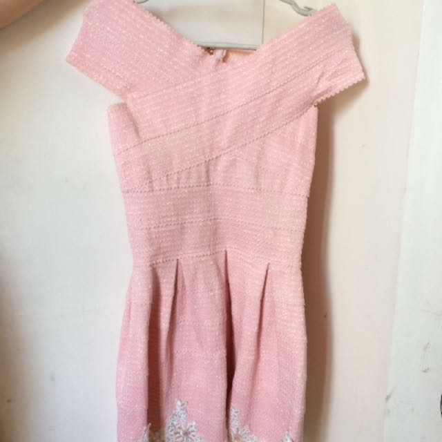 Pastel pink bandage dress