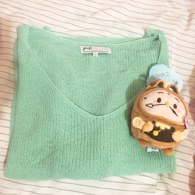 Pazzo淡綠色針織上衣