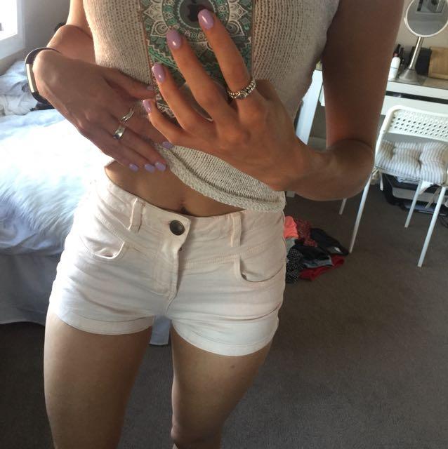 Peach high waisted short shorts festival summer