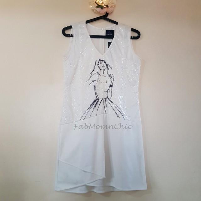Plains & Prints S/L Dress