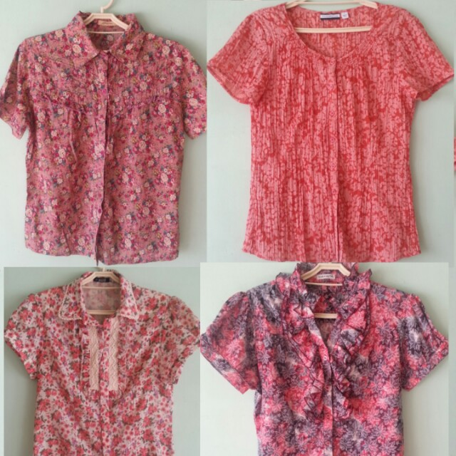 Red Button Up Tops