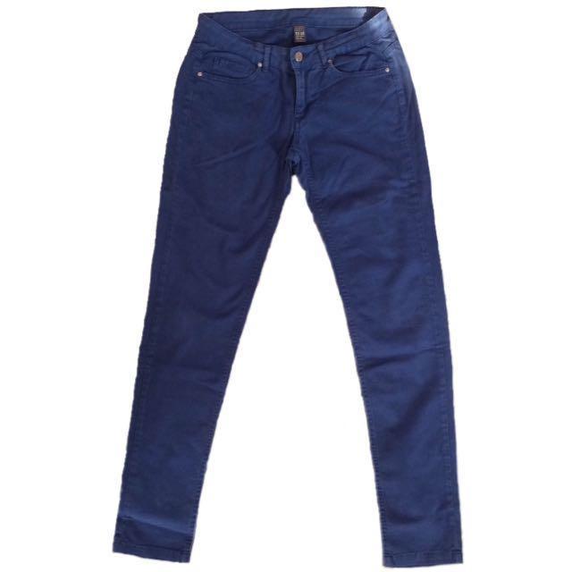 REPRICE! zara navy blue jeans
