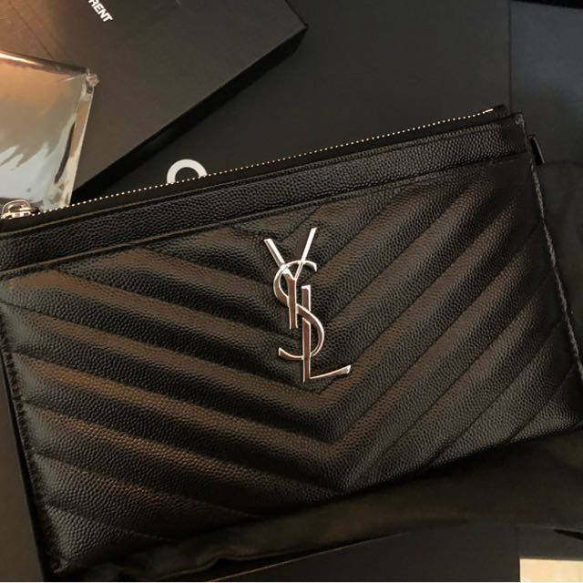 364a44e3cd2 Saint Laurent YSL Wallet Pouch Card Holder, Luxury, Bags & Wallets on  Carousell