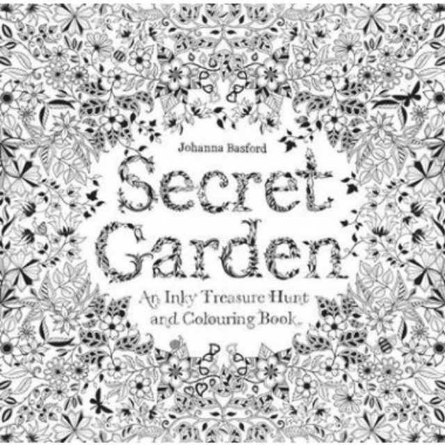 SECRET GARDEN AN INKY TREASURE HUNT AND COLOURING BOOK Books
