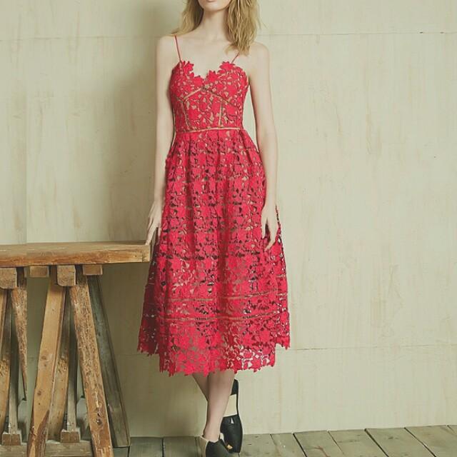 Self-portrait inspired dress