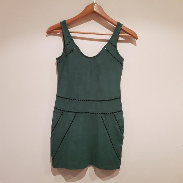 Suede Material Mini Dress