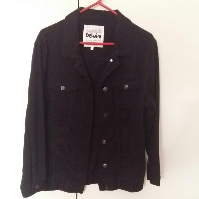 SUPRE Boyfriend Black Denim Jacket