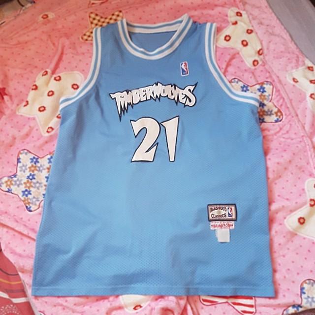 Timberwolves Garnett basketball jersey