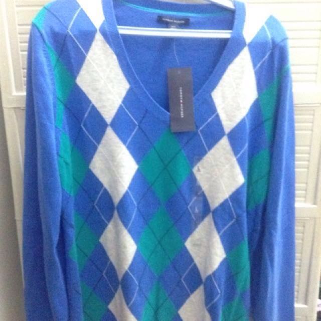 Tommy Hilfiger Sweater Blue Large