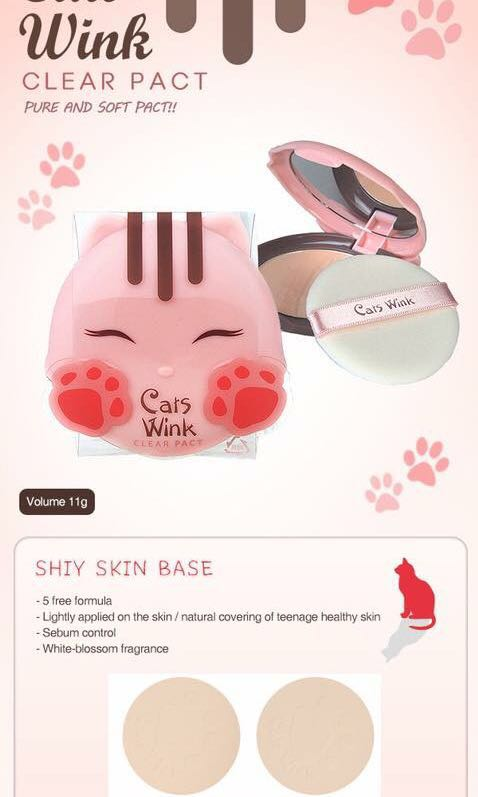 Tony Moly Cat's Wink Clear Pact (Clear Skin)