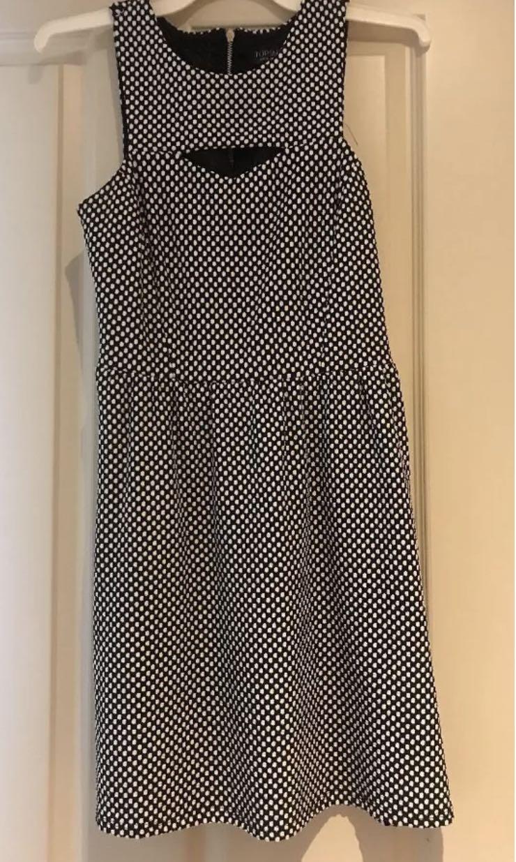 Topshop Polkadot Skater Dress