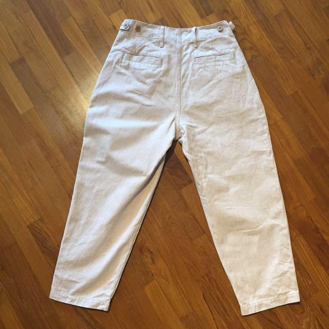 Uniqlo U beige sand coloured pants