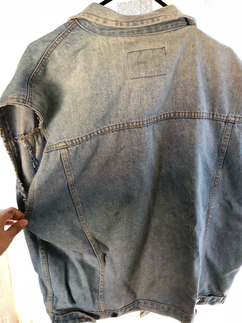 Vintage sleeveless denim jacket
