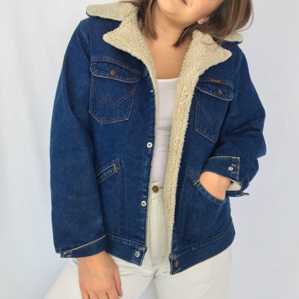 Vintage Wrangler Denim Sherpa Jacket
