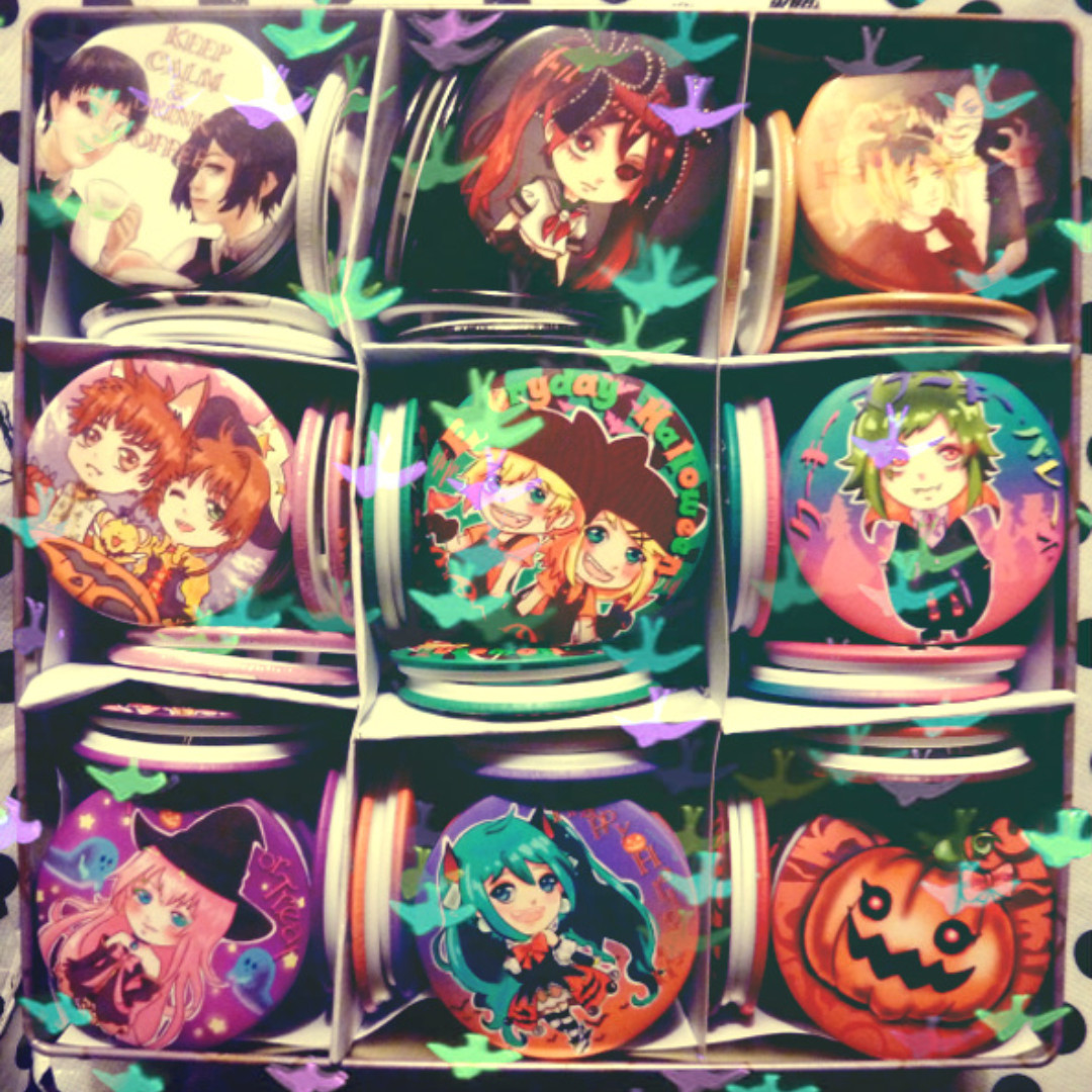 Vocaloid and various Doujin Badges