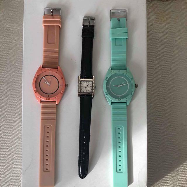 Watch - pink, aqua, black