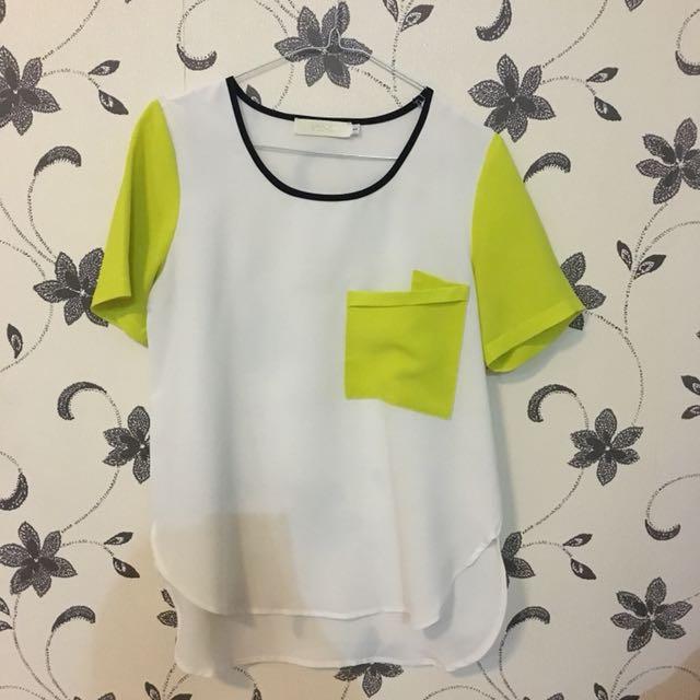 White yellow top