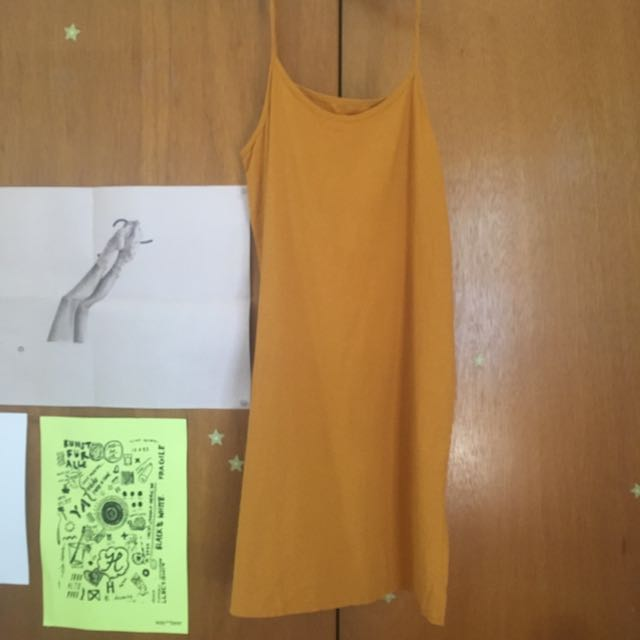 Yellow Midi Slip Dress