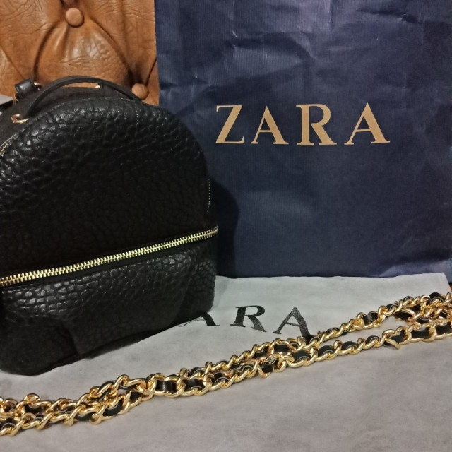 Zara Convertible Backpack Leather Ori