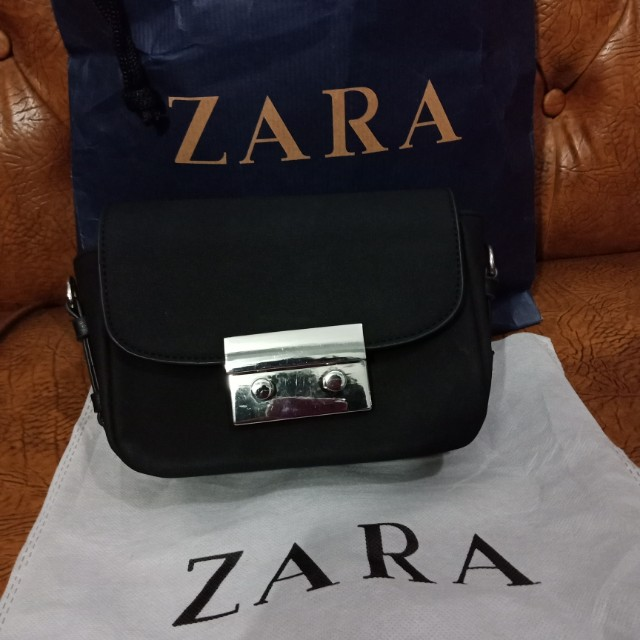 Zara double look mini suede