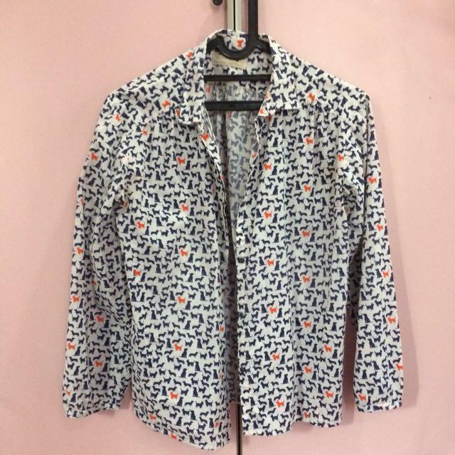 zara patterned shirt