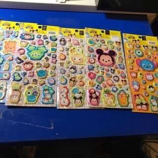 7-11 Tsum tsum 貼紙 $20/5