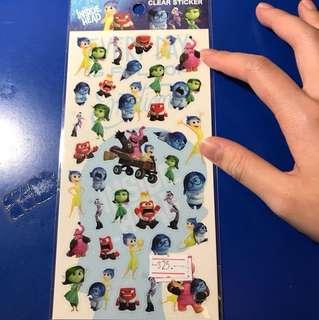 Pixar Inside out 貼紙