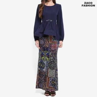 ZUCO FASHION Midi Peplum High-Low Kurung