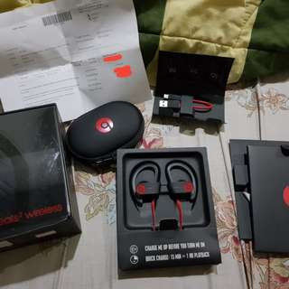 Earphone Beats by Dr. Dre Powerbeats 2 Black Amer Original 100% no Kw/OEM