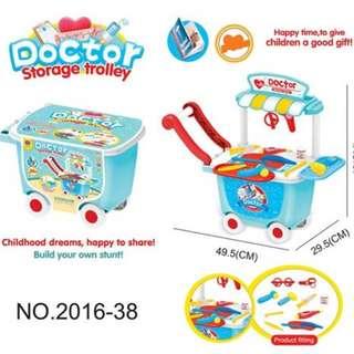 Portable Storage Trolley Suitcase Wheel Toy Set